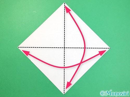 折り紙でねずみの折り方手順1