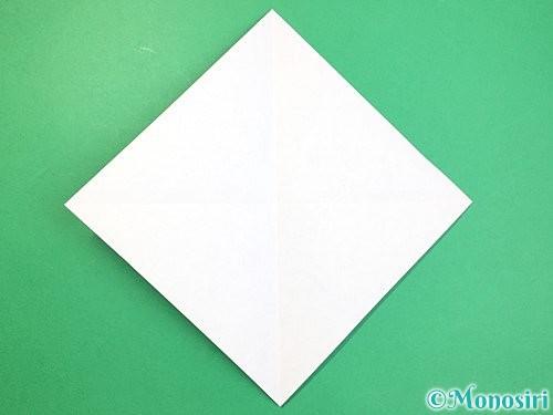 折り紙でねずみの折り方手順2