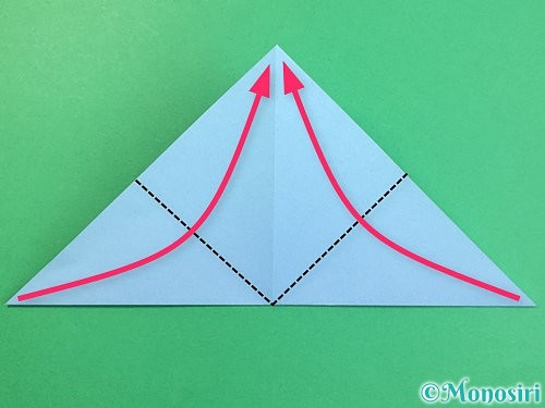 折り紙でねずみの折り方手順8