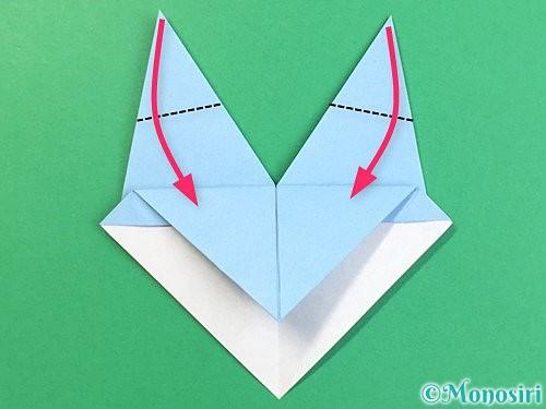 折り紙でねずみの折り方手順17