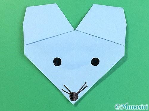 折り紙でねずみの折り方手順23