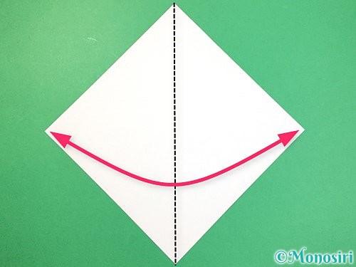 折り紙で立体的なネズミの折り方手順1