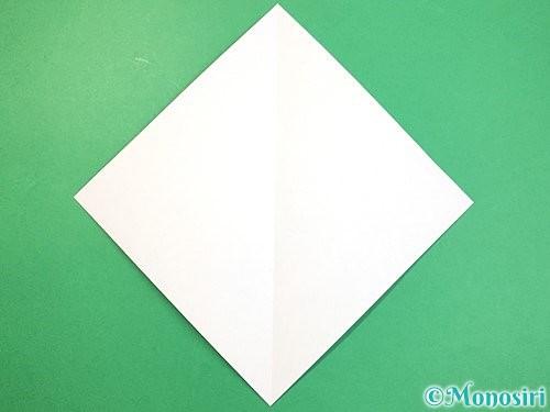折り紙で立体的なネズミの折り方手順2