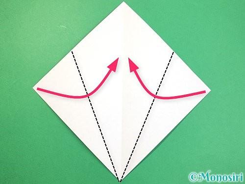 折り紙で立体的なネズミの折り方手順3