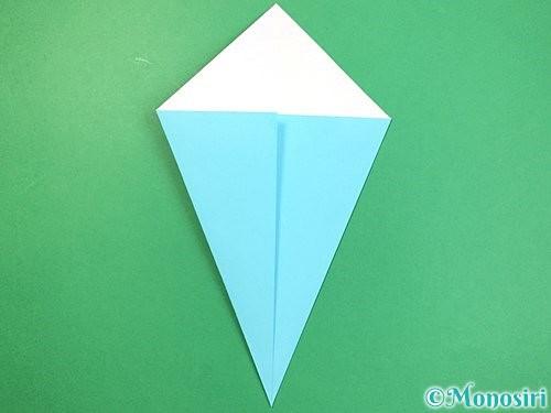 折り紙で立体的なネズミの折り方手順4