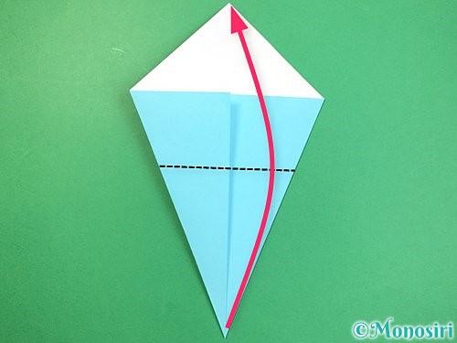折り紙で立体的なネズミの折り方手順5