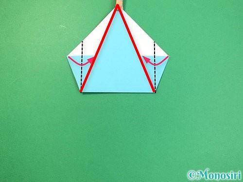 折り紙で立体的なネズミの折り方手順7