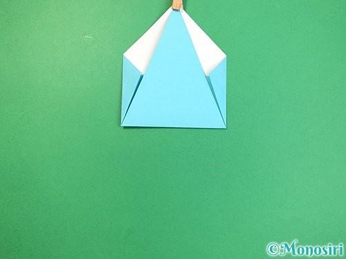 折り紙で立体的なネズミの折り方手順8