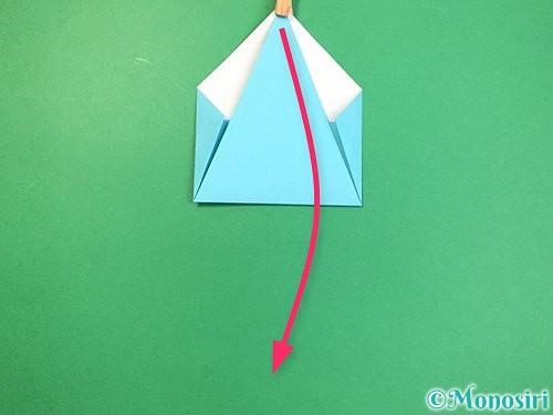 折り紙で立体的なネズミの折り方手順9