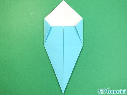 折り紙で立体的なネズミの折り方手順10