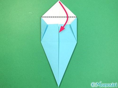 折り紙で立体的なネズミの折り方手順11