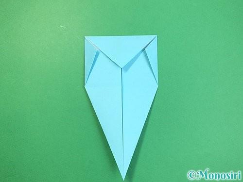 折り紙で立体的なネズミの折り方手順12