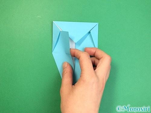 折り紙で立体的なネズミの折り方手順13