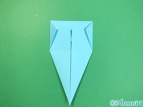 折り紙で立体的なネズミの折り方手順14