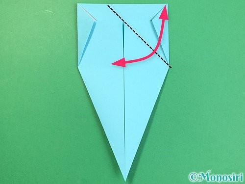 折り紙で立体的なネズミの折り方手順15