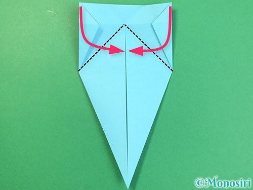 折り紙で立体的なネズミの折り方手順18
