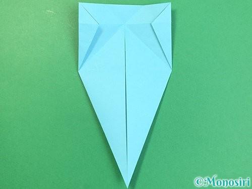 折り紙で立体的なネズミの折り方手順17