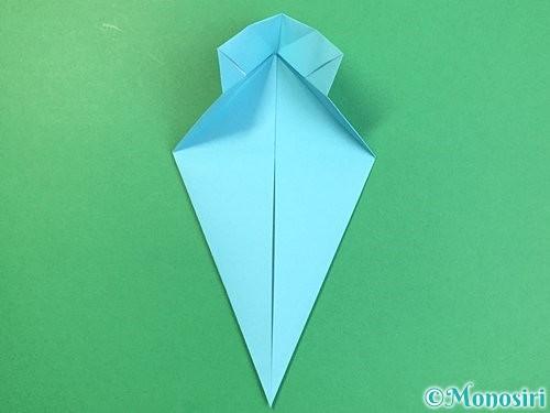折り紙で立体的なネズミの折り方手順19