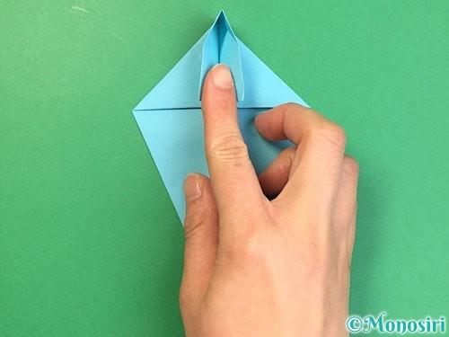 折り紙で立体的なネズミの折り方手順21