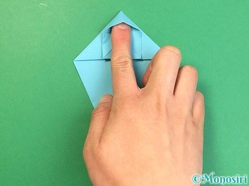 折り紙で立体的なネズミの折り方手順22