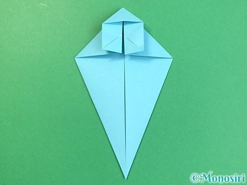 折り紙で立体的なネズミの折り方手順23