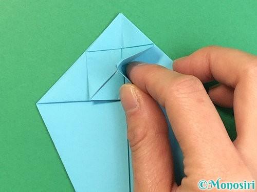 折り紙で立体的なネズミの折り方手順25