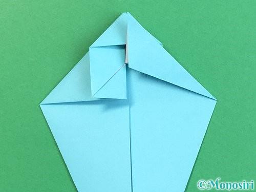 折り紙で立体的なネズミの折り方手順27