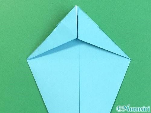 折り紙で立体的なネズミの折り方手順28