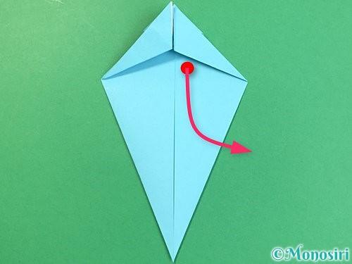 折り紙で立体的なネズミの折り方手順29
