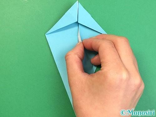 折り紙で立体的なネズミの折り方手順30