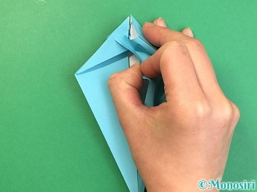 折り紙で立体的なネズミの折り方手順31