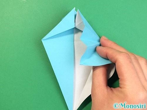 折り紙で立体的なネズミの折り方手順32