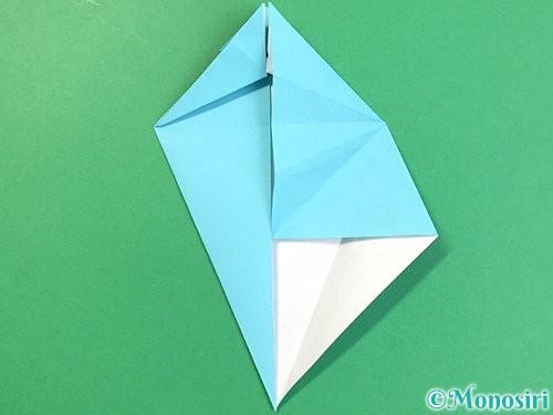 折り紙で立体的なネズミの折り方手順33