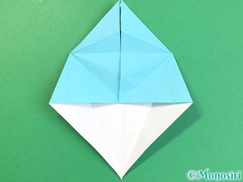 折り紙で立体的なネズミの折り方手順34