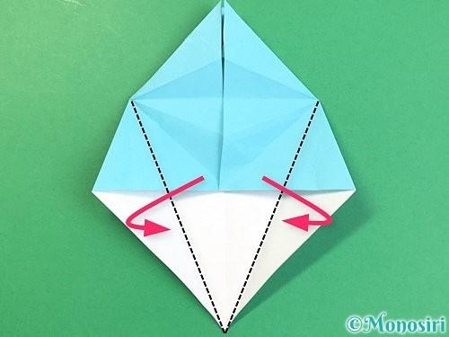折り紙で立体的なネズミの折り方手順35