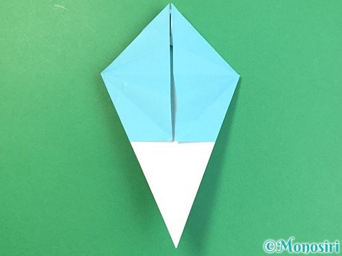折り紙で立体的なネズミの折り方手順36
