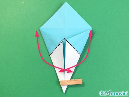 折り紙で立体的なネズミの折り方手順38