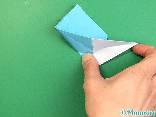 折り紙で立体的なネズミの折り方手順39