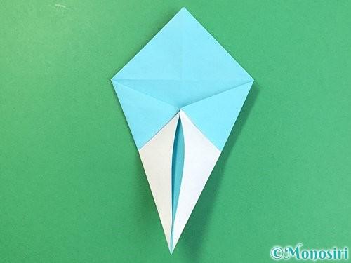 折り紙で立体的なネズミの折り方手順41