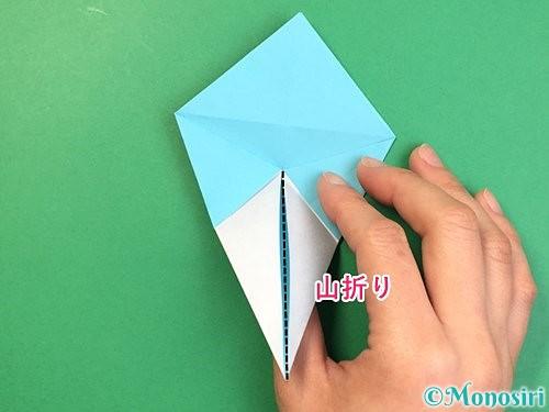 折り紙で立体的なネズミの折り方手順42
