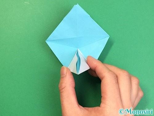 折り紙で立体的なネズミの折り方手順43