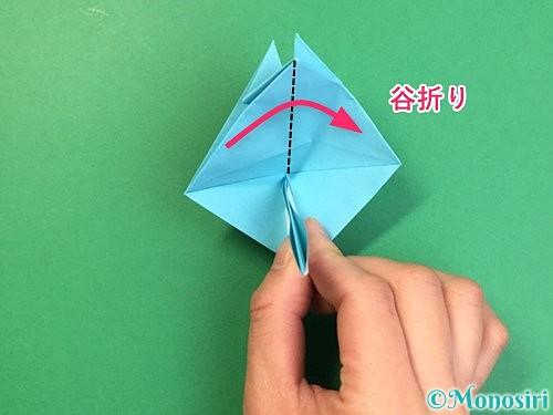 折り紙で立体的なネズミの折り方手順45