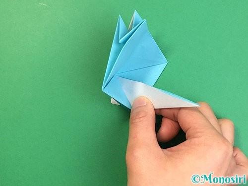 折り紙で立体的なネズミの折り方手順46