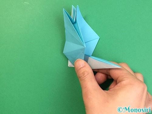 折り紙で立体的なネズミの折り方手順47