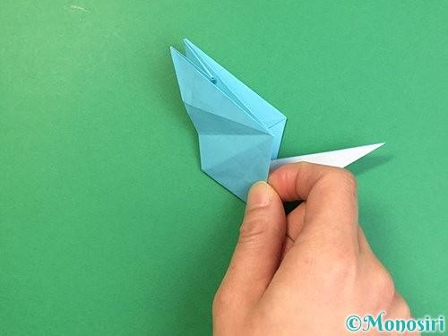 折り紙で立体的なネズミの折り方手順48