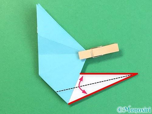 折り紙で立体的なネズミの折り方手順49