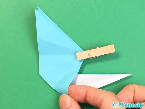 折り紙で立体的なネズミの折り方手順51