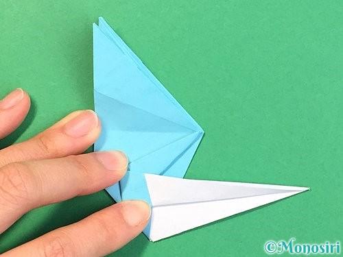 折り紙で立体的なネズミの折り方手順53