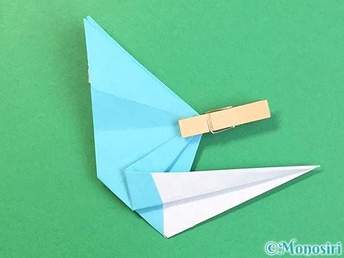 折り紙で立体的なネズミの折り方手順54