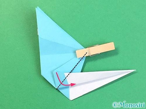 折り紙で立体的なネズミの折り方手順55